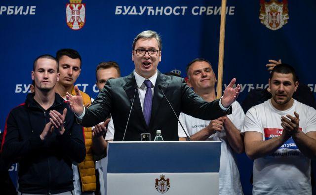 Shod je potekal v okviru Vučićeve kampanje Prihodnost Srbije. FOTO: AFP