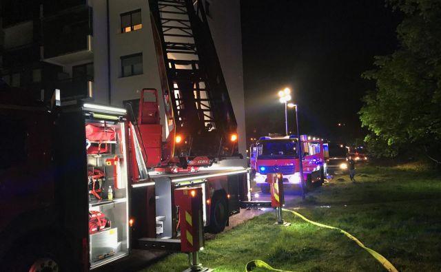 O požaru je bil obveščen požarni inšpektor. FOTO: PU Ljubljana
