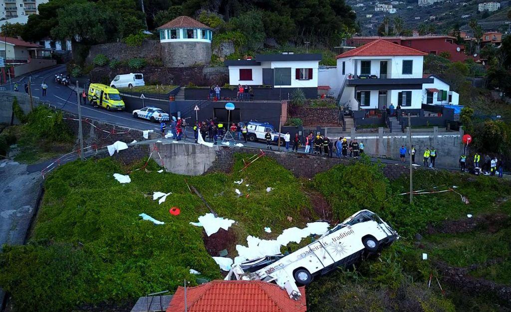 Poškodovani nemški državljani z Madeire se z vojaškim letalom vračajo v domovino