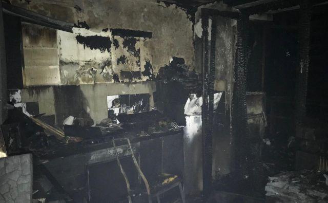 Zaradi posledic požara je pomoč v UKC Ljubljana iskalo pet oseb. FOTO: Gasilska Brigada Ljubljana