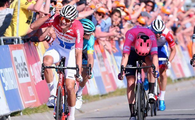 Mathieu van der Poel je obnorel nizozemsko občinstvo. FOTO: Amstel Gold Race