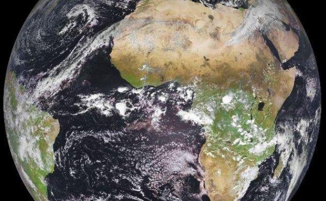 Satelit Meteosat je Zemljo v objektiv ujel 27. januarja letos. FOTO: Eumetsat