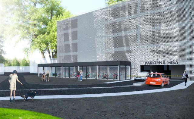 Garažna hiša bo zamenjala zdaj neugledno parkirišče sredi Grosuplja. FOTO: Občina Grosuplje