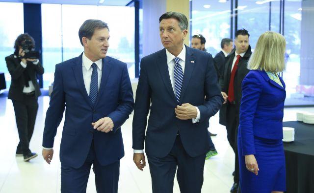 Zunanji minister in predsednik republike sta nagovorila zbrane. FOTO: Jože Suhadolnik/Delo