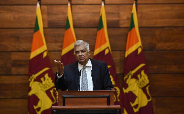 Šrilanški premier Ranil Wickremesinghe FOTO: AFP