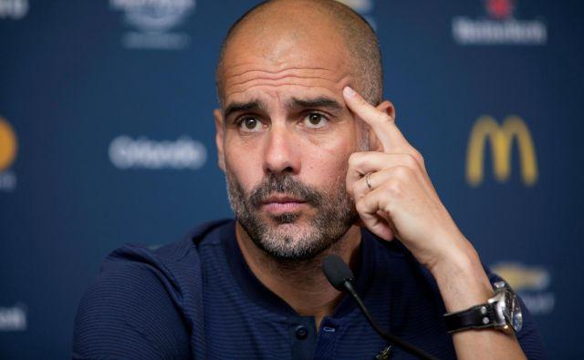 Pep Guardiola je predstavil pričakovanja pred sredinim derbijem. FOTO: Reuters