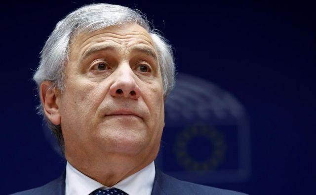 Antonio Tajani je februarja sprejel komisarkino povabilo, nato pa si je premislil. FOTO: Reuters