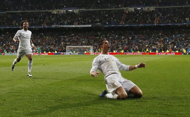 Kralj strelcev v ligi prvakov Cristiano Ronaldo je maja 2017 zabil tri gole tudi v polfinalni tekmi z Atleticom. FOTO: Reuters