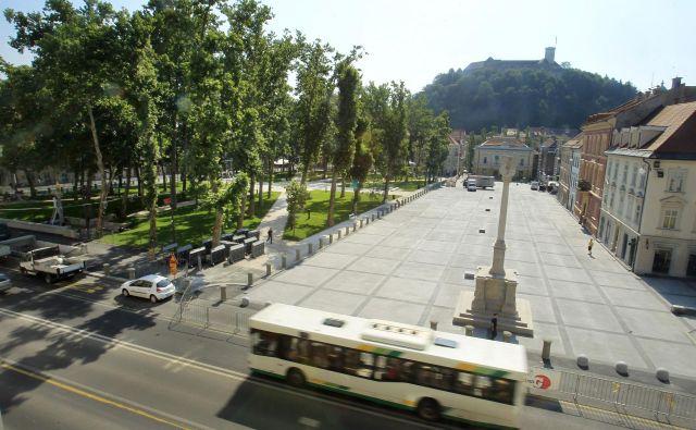 Kongresni trg je danes zloščen kot iz škatlice. FOTO: Leon Vidic