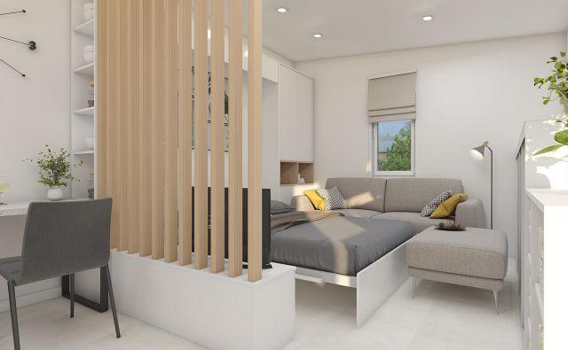 Takšno ureditev počitniške sobe predlaga arhitektka. Foto Tjaša Justin