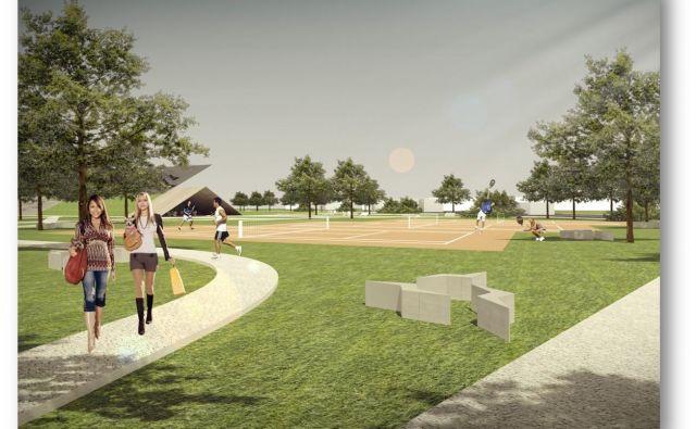 Športni park nameravajo zgraditi blizu stanovanjske sosese Sončni dvori. Foto Občina Grosuplje