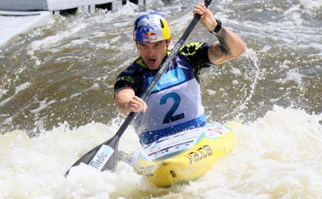 Peter Kauzer se bo letos spet bojeval s podivjanimi vodami. FOTO. Nina Jelenc/KZS