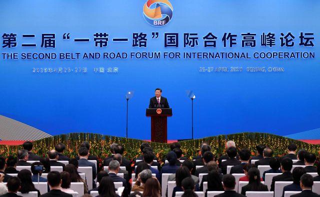 Prvega foruma za mednarodno sodelovanje vzdolž pasu in ceste v Pekingu pred dvema letoma se je udeležilo 29 voditeljev držav, tokrat pa se jih je zbralo 37. FOTO: AFP