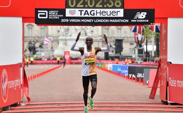 Eliud Kipchoge je najboljši maratonec na svetu. FOTO: AFP