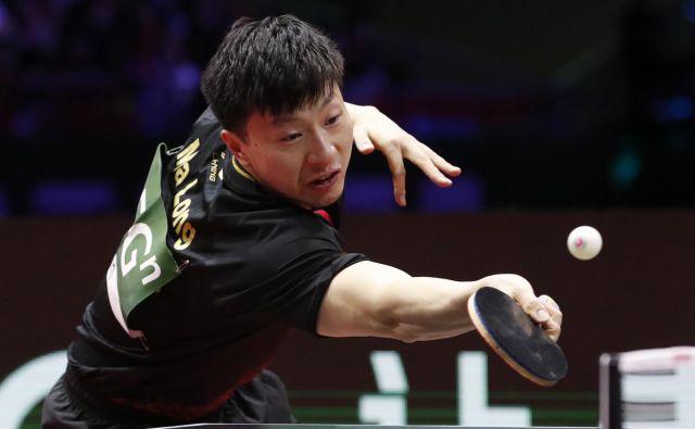 Ma Long je osvojil tretji zaporedni naslov svetovnega prvaka. FOTO: Reuters