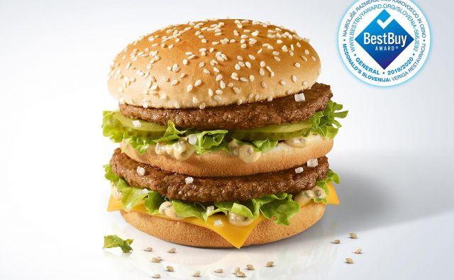 Big Mac, najslavnejši burger na svetu, v McDonald'sovih restavracijah po Sloveniji stane le 2,40 evra.<br /> FOTO: McDonald`s Slovenija