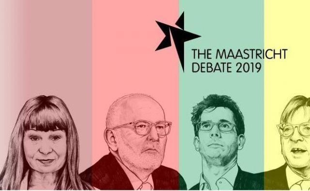 V mestu, kjer so s podpisom Maastrichtske pogodbe postavili temelje Evropske unije, so svojo vizijo prihodnosti EU predstavili vodilni kandidati osrednjih političnih strank. FOTO: Maastrichtdebate.eu