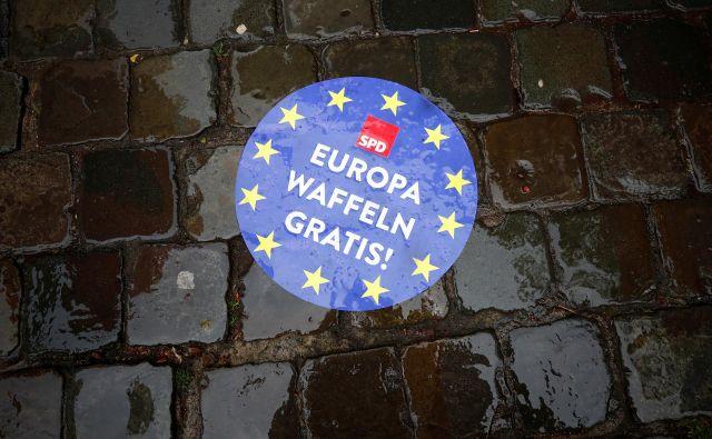 Osmerico evropskih poslancev bomo volili 26. maja.FOTO: Wolfgang Rattay/Reuters