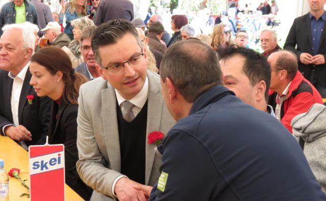 Predsednik vlade Marjan Šarec na Ravnah na Koroškem. FOTO: Mateja Kotnik