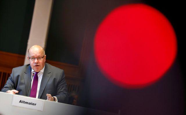 Nemški gospodarski minister Peter Altmaier stavi na nacionalno industrijsko strategijo. FOTO: Reuters