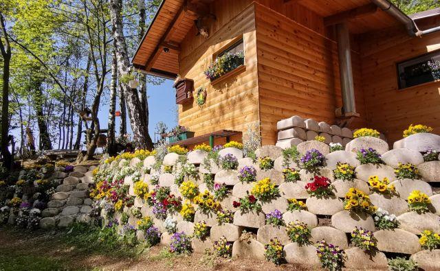 Najlepša hišica v cvetju. Foto Boris Šuligoj