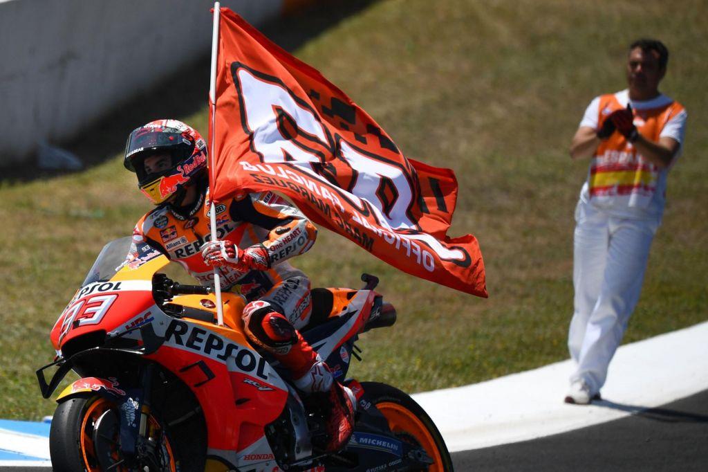 Marquez z domačo zmago na vrh