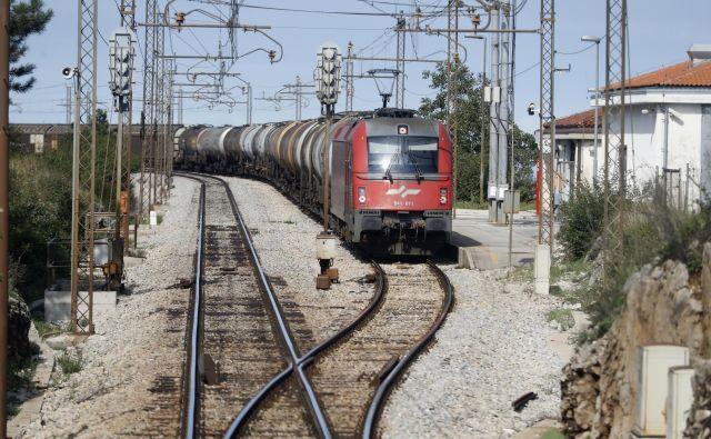 Sedanja proga med Koprom in Divačo ni bila predvidena za tako velike obremenitve v železniškem prometu, poleg tega pa predstavlja tudi veliko okoljsko grožnjo. Foto Uroš Hočevar