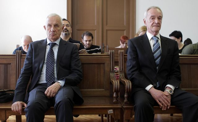 Peter Zupan in Jure Cekuta sta bila obsojena na zaporni in denarni kazni. FOTO: Ljubo Vukelič/Delo