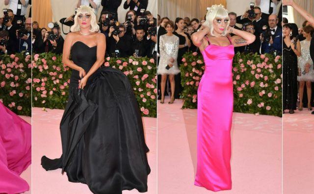 Lady Gaga v kreaciji Brandona Maxwella FOTO: Angela Weiss/ AFP