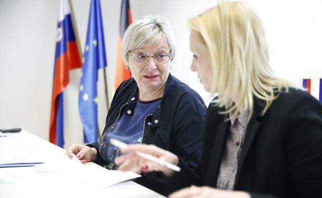 V Slovensko-nemški gospodarski zbornici, ki jo vodi Gertrud Rantzen (na sliki levo), vidijo priložnosti za nove nemške naložbe zlasti na področjiih digitalizacije, robotizacije in industrije 4.0. Foto Uroš Hočevar