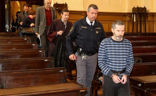 Matej Križnič (spredaj) je bil med napadi neprišteven, je ugovotil izvedenec Dragan Terzič (četrti v vrsti). FOTO: Marko Feist