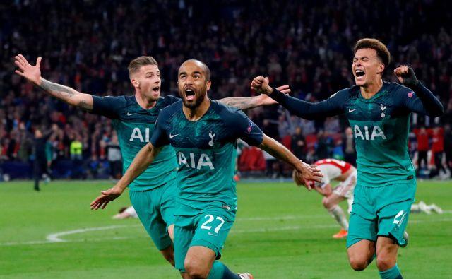 Lucas Moura je bil junak velike zmage Tottenhama. FOTO: Reuters