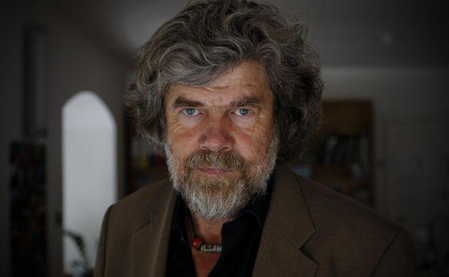 Reinhold Messner ima o slovenskih alpinistih dobro mnenje. FOTO: Uroš Hočevar/Delo