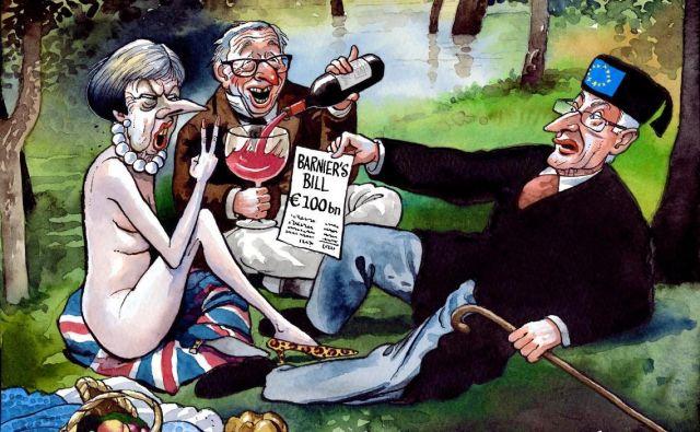 Velika Britanija je ena zadnjih utrdb ostre in brezkompromisne politične satire. Karikatura Peter Brookes