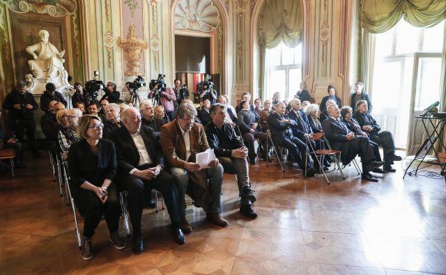V Cekinovem gradu je bila 7. maja slovesnost ob 30. obletnici shoda na ljubljanskem Kongresnem trgu. Foto Uroš Hočevar