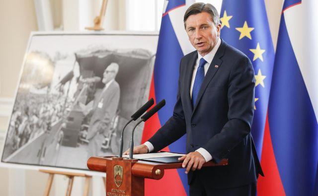 »Dajte no, predsednik Pahor, temeljito premislite o lastnih besedah.« Foto Uroš Hočevar