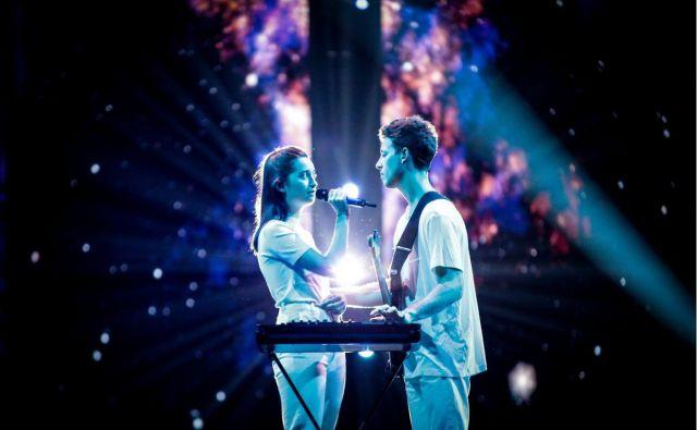 Zala in Gašper. FOTO: Eurovision TV