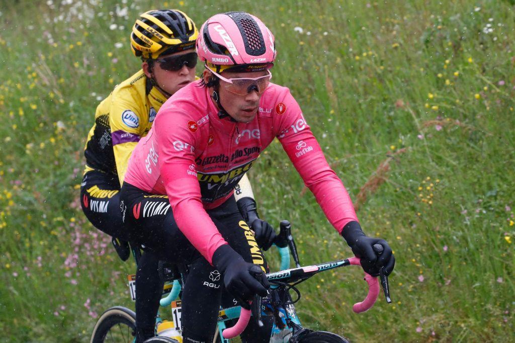 FOTO:Primož Roglič brez težav ubranil rožnato majico