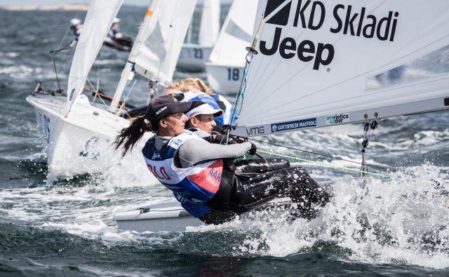 Tina Mrak in Veronika Macarol nista ubranili naslova evropskih prvakinj. FOTO: Uroš Kekuš Kleva