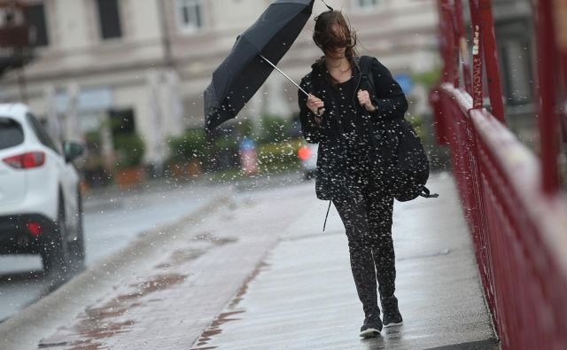 Veter povzroča težave tudi v Maribor. FOTO: Tadej Regent
