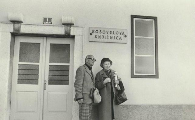 Avgust Černigoj in Karmela Kosovel Foto Marijan Zlobec