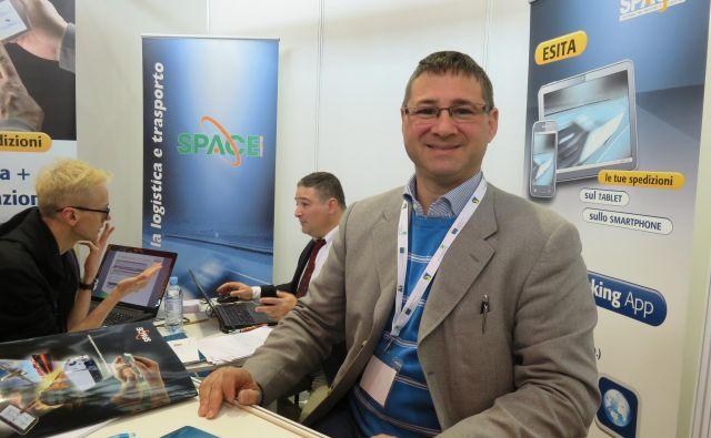 Paolo De Marin iz podjetja Space Computer v Pordenonu išče programerje za rešitve v logistiki. FOTO: Nataša Čepar