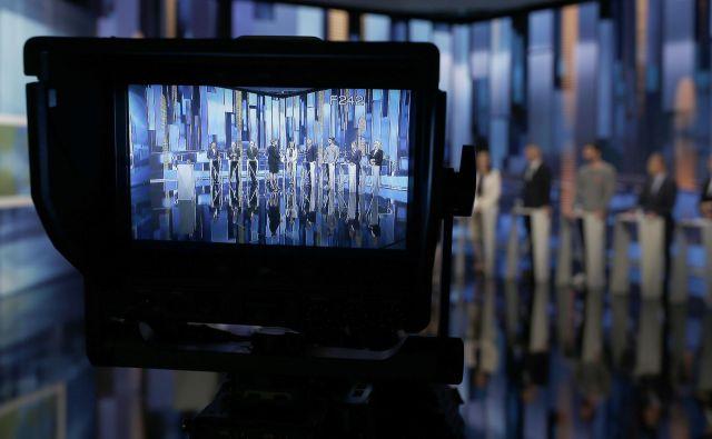 Soočanja kandidatov za evropske volitve na RTV Slovenija. FOTO: Blaž� Samec/Delo