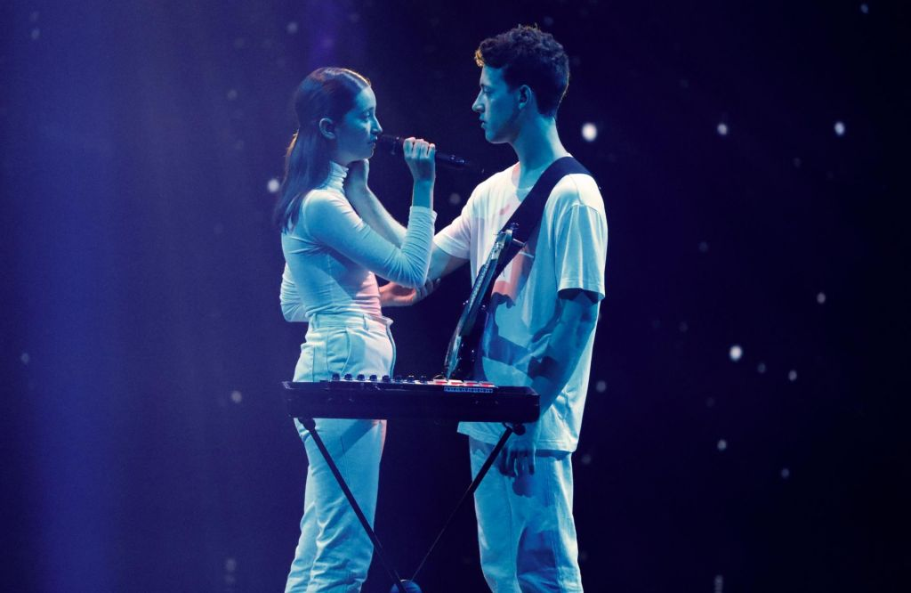 FOTO:Zala in Gašper sta v sobotnem finalu Evrovizije