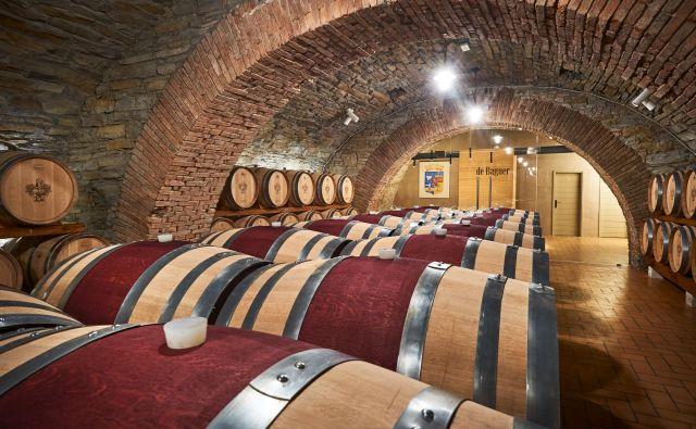 Klet Brda bo v kleti gradu v Dobrovem hranila svoja najboljša vina. Foto Marijan Močivnik