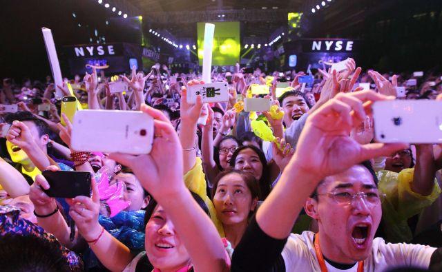 Javna ponudba delnic kitajske spletne dražbene platforme Alibaba je največja javna ponudba do zdaj, toda največji niso tudi najdražji. Foto AFP