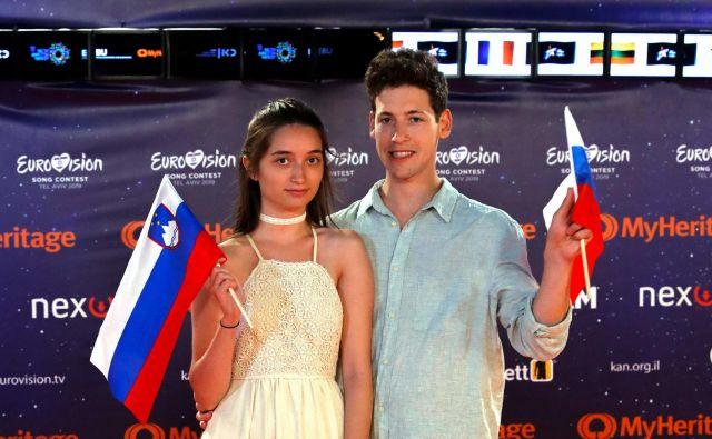 Zala in Gašper sta vesela finala, čeprav ni videti tako. FOTO: Jack Guez/AFP