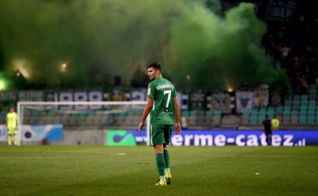 Rok Kronaveter je vrhunec kariere v Sloverniji dosegel v dresu Olimpije. FOTO: Roman Š�ipić/Delo