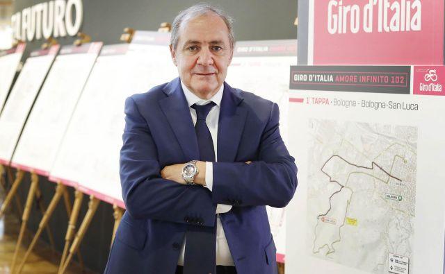 Direktor Gira Mauro Vegni pravi, da bi se Sloveniji gostovanje rožnate karavane gotovo izplačalo. FOTO: Leon Vidic/Delo