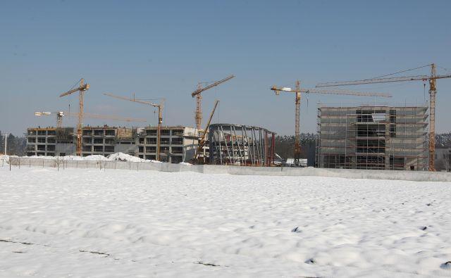 Gradnja novih fakultet (FRI) in (FKKT) ob Večni poti nasproti živalskega vrta v Ljubljani marca leta 2013. Foto Igor Zaplatil